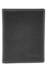 Men's Fossil 'Lincoln' Leather Folding Card Case Black