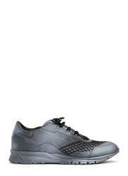 Lanvin Spray Painted Mesh Running Sneakers Grey