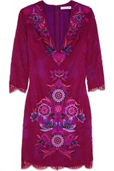 Matthew Williamson Embroidered Lace Dress Purple