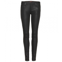 7 For All Mankind The Skinny Studded Coated Jeans Hi Shi Gu Bl