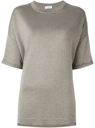 Brunello Cucinelli Knit T Shirt Grey