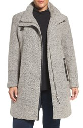 Calvin Klein Plus Size Women's Buckle Tab Detail Stand Collar A Line Coat