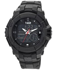 Armitron Men's Analog Digital Chronograph Black Resin Bracelet Watch 53Mm 20 4942Blk