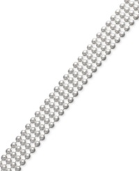 Giani Bernini Sterling Silver Bracelet 7 1 4' Four Row Bead Chain