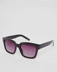 Monki Oversized Retro Sunglasses Black