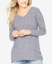 Motherhood Maternity V Neck Sweater Navy