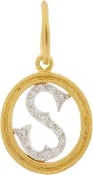 Cathy Waterman Initial Charm Colorless