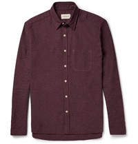 Oliver Spencer New York Cotton Flannel Shirt Red