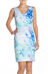 Women's Julia Jordan Print Scuba Sheath Dress