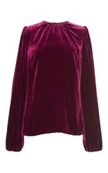 Dolce And Gabbana Velvet Blouse Burgundy