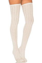 Free People All For One Over The Knee Socks Cream