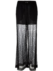 Mcq By Alexander Mcqueen Leaf Lace Palazzo Pants Black