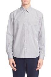 Umit Benan Trim Fit Stripe Shirt White