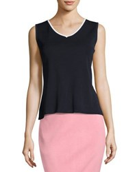 Ming Wang V Neck Knit Tank Naw