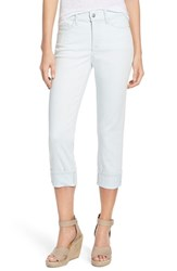 Nydj Women's 'Dayla' Colored Wide Cuff Capri Jeans Oceanside Wash