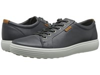 Ecco Soft Vii Sneaker Dark Shadow Men's Lace Up Casual Shoes Black
