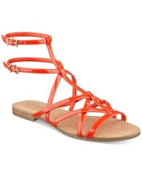Guess Women's Mannie Strappy Flat Sandals Women's Shoes Red