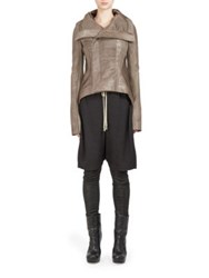 Rick Owens Naska Calf Hair And Wool Biker Jacket Dust