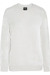 Mcq By Alexander Mcqueen Sequin Embellished Wool Sweater White