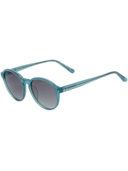 Linda Farrow '40 C12' Sunglasses Blue