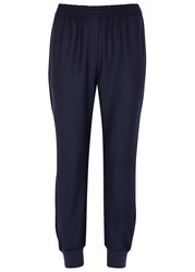 Adam By Adam Lippes Navy Cropped Jersey Jogging Trousers