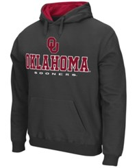 Colosseum Men's Oklahoma Sooners 3 Stack Logo Hoodie Charcoal