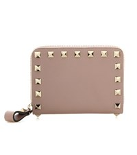 Valentino Rockstud Leather Coin Purse Pink