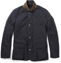 Loro Piana Roadster Storm System Quilted Jacket Blue