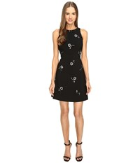 Kate Spade Scattered Brooch Crepe Dress Black Women's Dress