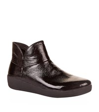 Fitflop Supermod Patent Ankle Boots Female Black