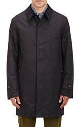 Barneys New York Men's Corduroy Collar Coat Black