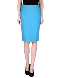 Trou Aux Biches Knee Length Skirts Turquoise