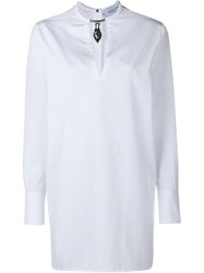 Valentino Mask Choker Shirt White