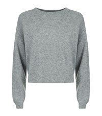 Frame Le Cropped Rib Cashmere Sweater Female Grey