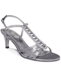Adrianna Papell Ainsley Evening Sandals Women's Shoes Pewter