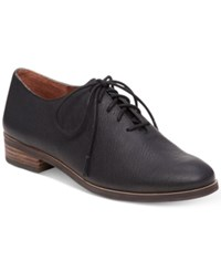 Lucky Brand Women's Castener Lace Up Oxfords Women's Shoes Black