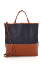 Alice.D Medium Tote Denim Cognac