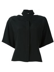 Maison Martin Margiela Cut Out Detail Shirt Black