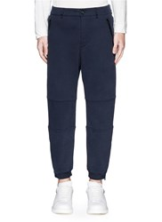 Alexander Mcqueen Zip Cuff Organic Cotton Sweatpants Blue