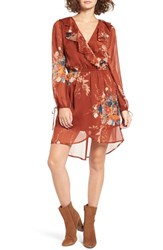 Band Of Gypsies Women's Floral Print Chiffon Dress