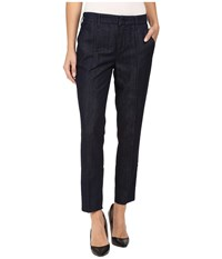 Level 99 Taylor Classic Straight Leg Trousers In Twilight Twilight Women's Jeans Blue