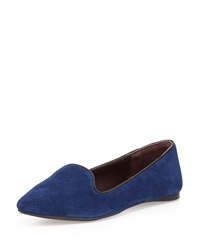 Report Signature Suede Almond Toe Loafer Blue