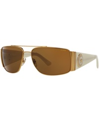 Versace Sunglasses Versace Ve2163 63 Gold White Brown Polarized