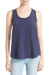 Joie Women's 'Alicia' Racerback Silk Tank Dark Navy