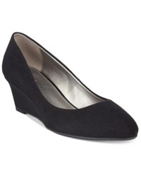 Bandolino Franci Wedge Pumps Black Suede