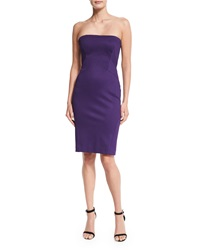 Zac Posen Strapless Bandage Jersey Sheath Dress