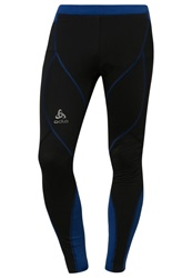 Odlo Fury Tights Black Mazarine Blue