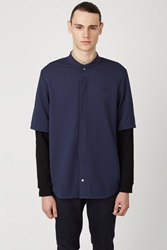 Opening Ceremony Double Layer Pique Shirt Midnight Navy