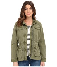 Lucky Brand Core Military Jacket Winter Moss Women's Coat Pewter