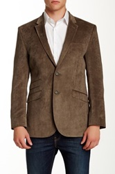 English Laundry Taupe Velvet Two Button Notch Lapel Blazer Pink